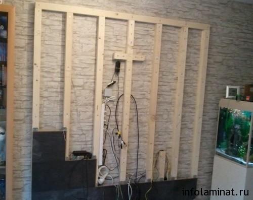 Как класть ламинат на стену