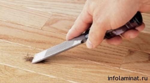 Как применять затирку для ламината