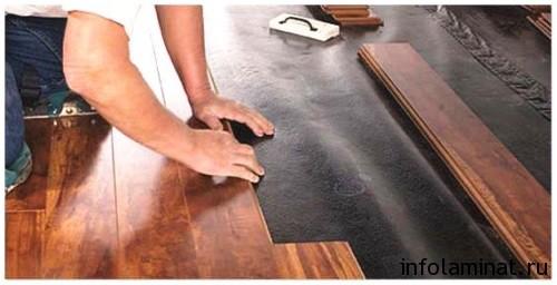 Как укладывать ламинат с подложкой