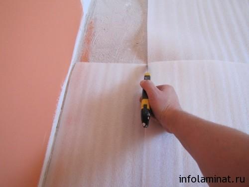 Пошаговая инструкция по укладке подложки