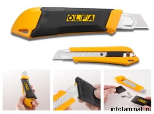 Резка ламината строительным ножом