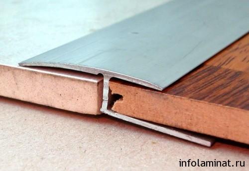 Стыковка керамической плитки и ламината