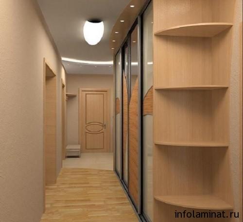 Укладка ламината в узком коридоре