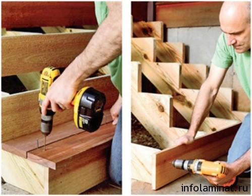 Как самому сделать ступеньки из дерева