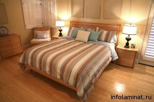 Дизайн ламината для спальни