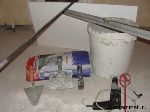 Инструменты для стяжки пола под ламинат