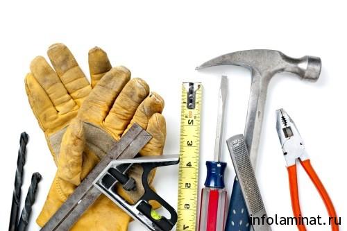 Инструменты для укладки ламината на стену