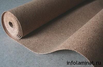 Использование подложки под ламинат