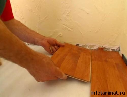 Как заменить одну доску ламината