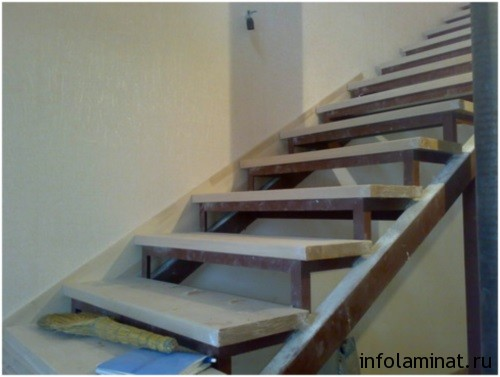 Отделка лестницы ламинатом своими руками
