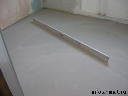 Подготовка бетонного пола под укладку ламината