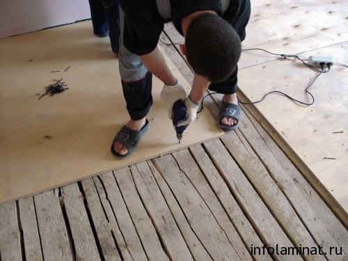 Подготовка деревянного пола под укладку ламината