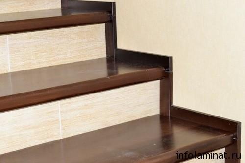 Подготовка ламината для отделки бетонной лестницы