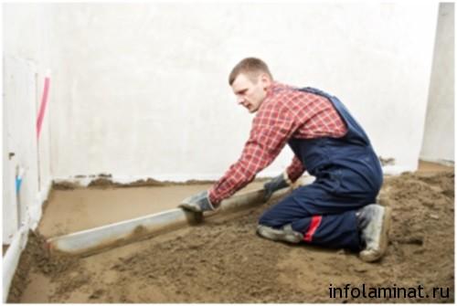 Способы выравнивания бетонного пола под ламинат