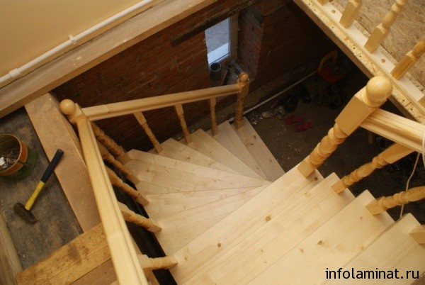 Строительство лестницы на второй этаж