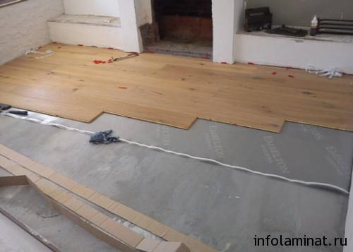 Укладка ламината на бетон