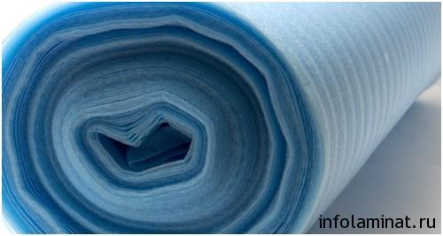 виды подложки под ламинат - вспененный полистирол