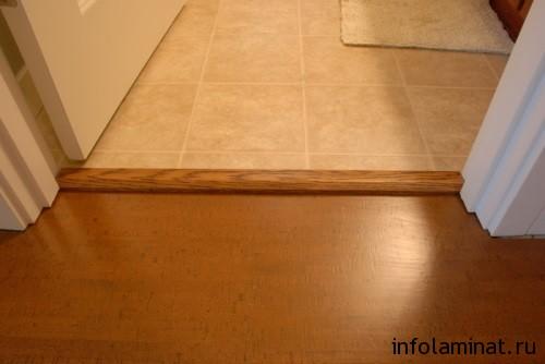 деревянные пороги на ламинат