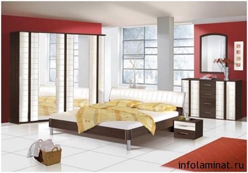 сочетание мебели и ламината