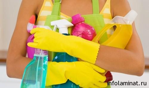 чем мыть пол из ламината